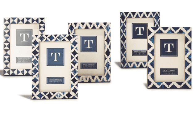 "Indigo 4"" x 6"" Resin Inlay Photo Frame - Various Patterns"