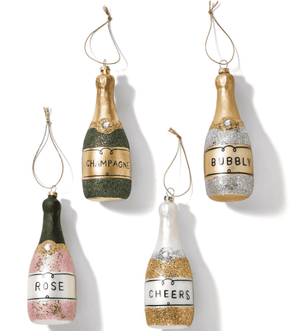 Glitter Bottle Ornament - Assorted Ornament
