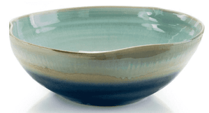 Free Form Bowl in New England Blues Decor