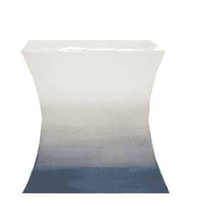 Ocean Rift End Table - Ombre Blue Side Table