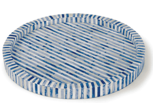 Bone & Indigo Tray Round Entertaining