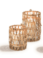 Woven Cane Lanterns (3 styles, 2 sizes) Accessory