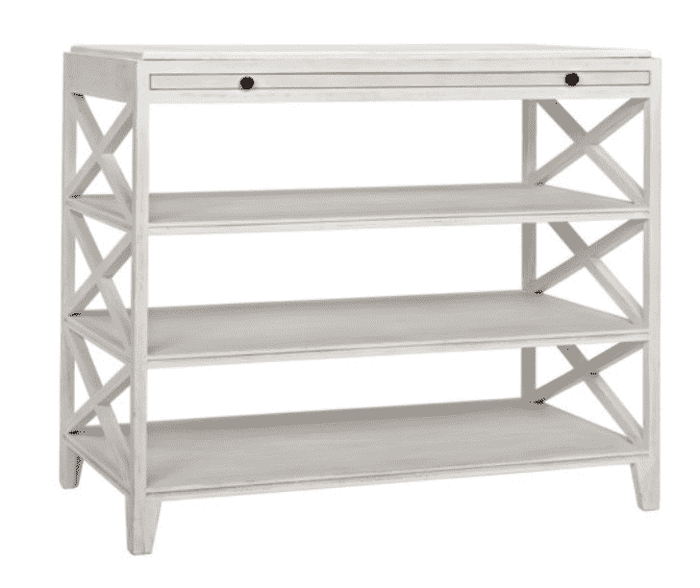 White Wash Mahogany Entry Console with pull out