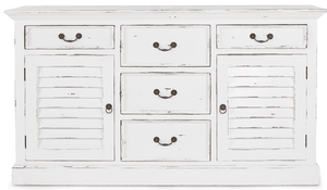 Bahama Style 5-Drawer, 2-Door Chest - quick ship Chest