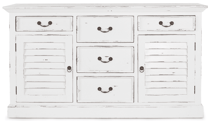 Bahama Style 5-Drawer, 2-Door Chest - quick ship