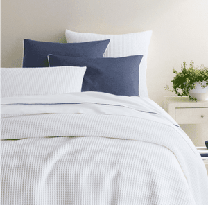 Curaco Matelassé Coverlet -Various Sizes & Colors Bedding Twin White