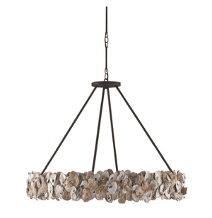 Oyster Shell Round Chandelier Chandelier