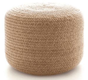 Braided Natural Indoor/Outdoor Pouf Pouf
