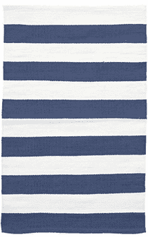 Catamaran Stripe Denim/White Indoor/Outdoor Rug Rug