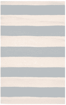 Catamaran Stripe Light Blue/Ivory Indoor/Outdoor Rug Rug