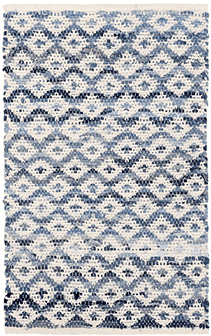 Denim Rag Diamond Ivory Woven Rug Rug