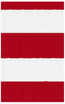"Hampton Indoor/Outdoor PVC Rug - Bright Red and White 8"" Stripe Rug"