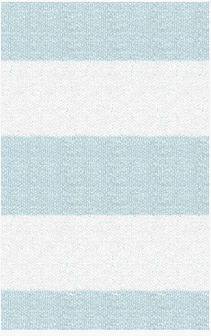 Hampton 4-inch Stripe Indoor/Outdoor PVC Rug - Powder Blue and White
