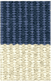 Hampton 4-inch Stripe Indoor/Outdoor PVC Rug - Blue Rug