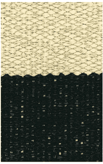 Hampton 4-inch Stripe Indoor/Outdoor PVC Rug - Black/Tan Rug