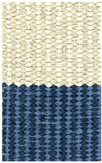 Hampton 4-inch Stripe Indoor/Outdoor PVC Rug - Mariners Blue Rug