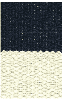 Hampton 4-inch Stripe Indoor/Outdoor PVC Rug - Navy/Tan Rug