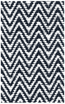 Hampton Indoor/Outdoor PVC Rug - Chevron Blue Rug