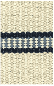 Hampton Indoor/Outdoor PVC Rug - Dalarna Tara Navy