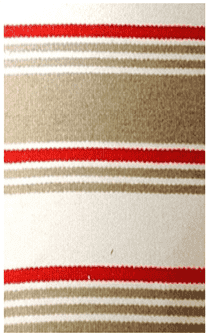 Hampton Stripe Indoor/Outdoor PVC Rug - CALLA Beige and Burnt Orange Rug