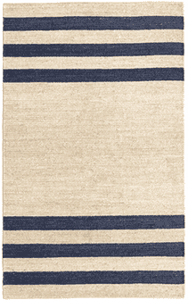 Ipswich Woven Jute Rug (2 colors: Navy or Natural) Rug 2'x3' Navy Blue