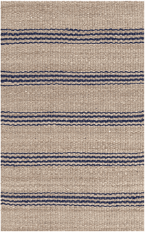 Jute Ticking Indigo Indoor Rug Rug