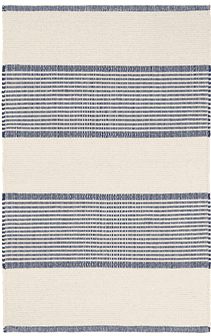La Miranda Woven Cotton Rug (three colors available) Rug 2x3 Navy