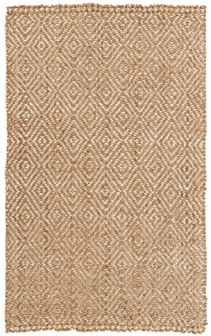 Reef Tan and Cream Jute rug Rug