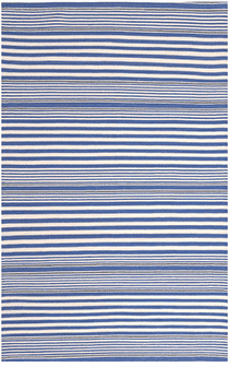 Rugby Stripe Denim Indoor/Outdoor Rug Rug