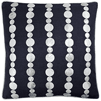 Mother of Pearl Shell Linen Pillow (Navy)