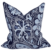 "Molokai Pillow-Indigo Pillow 22"" Blue"
