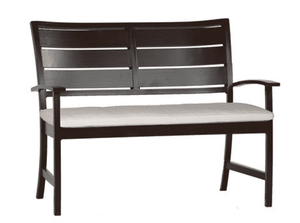 Savannah Aluminum Outdoor Bench - Two Finishes Outdoor Furniture