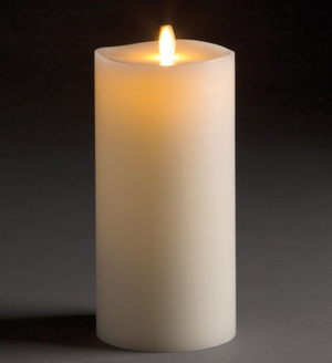 Flameless Indoor Candles - Various Sizes Candle Size_4x8.5