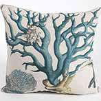 Sealife Aqua Coral Euro Pillow I Pillow