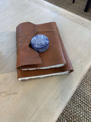 Custom Handmade Leather Journals(3 Sizes) Accessory