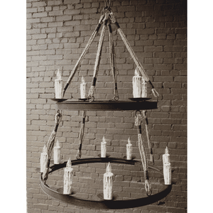 Iron and Rope Chandelier Chandelier