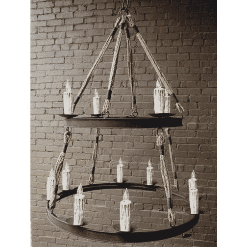 Iron and Rope Chandelier