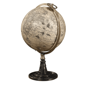 World Globe Natural Tones Decor