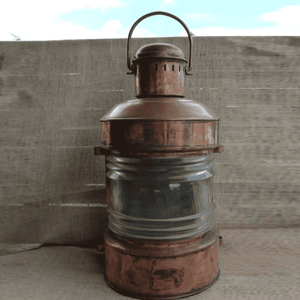 Copper Oil Anchor Lantern Medium Vintage