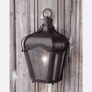 Rustic Brown Iron Carriage Wall Lantern Indoor/Outdoor Sconce