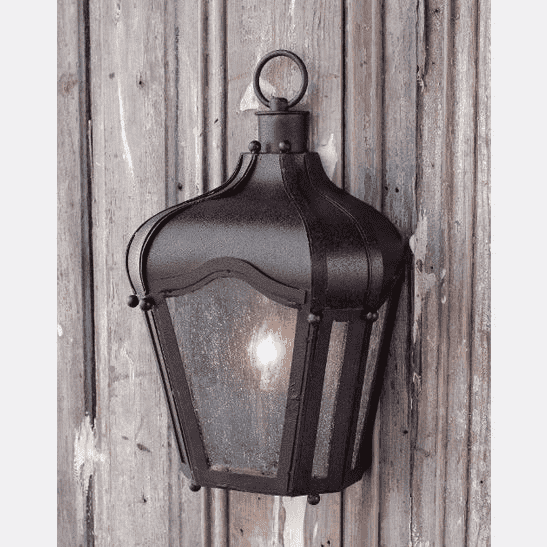 Rustic Brown Iron Carriage Wall Lantern Indoor/Outdoor