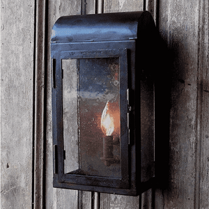 Rustic Iron Wall Lantern indoor and outdoor Sconce