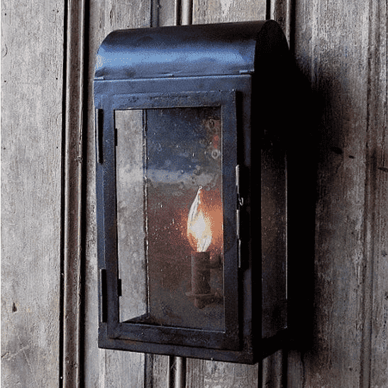 Rustic Iron Wall Lantern indoor and outdoor