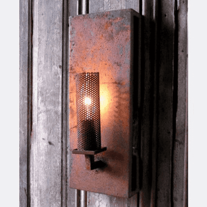 Rustic Iron Candle Light Wall Sconce Sconce