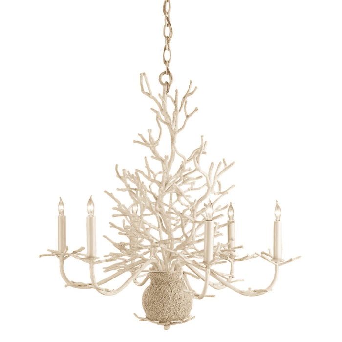 Antique White Coral Chandelier - Two Sizes