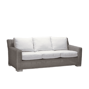 Malibu Outdoor Weathered Wicker Sofa Outdoor Furniture