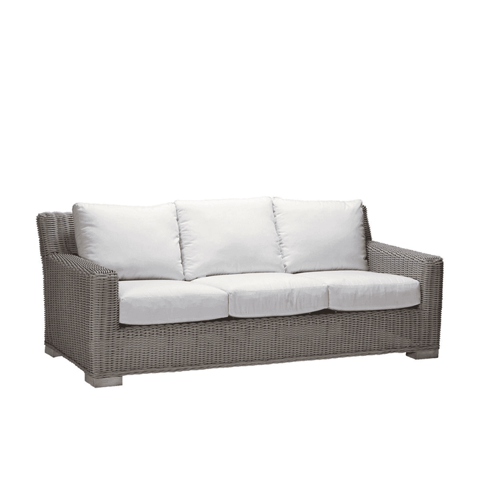 Malibu Outdoor Weathered Wicker Sofa