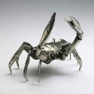 Crab in Silver Finish Decor