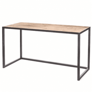 Kona Rectangular Metal and Elm Console Table Console
