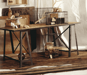 Boatwood Work Table Console